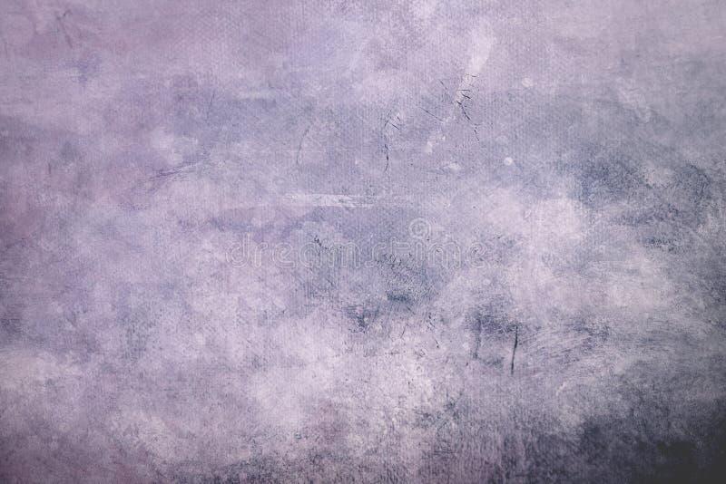 苍白紫色脏的帆布背景或纹理与黑暗的vignett 库存图片
