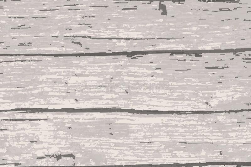苍白老木材背景 库存例证