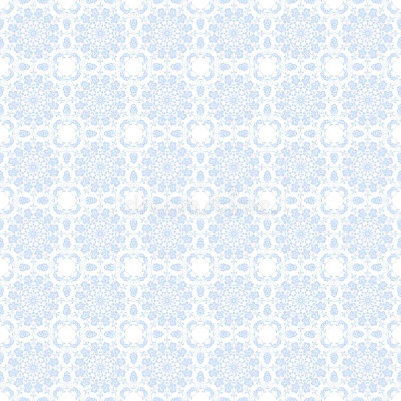 苍白背景蓝色的万花筒 向量例证