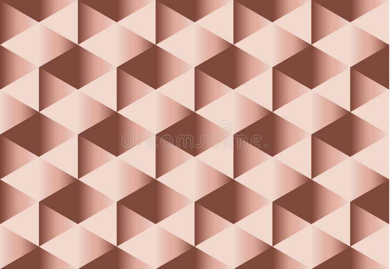 苍白颜色玫瑰色嫩典雅的抽象反复性的主题 向量例证