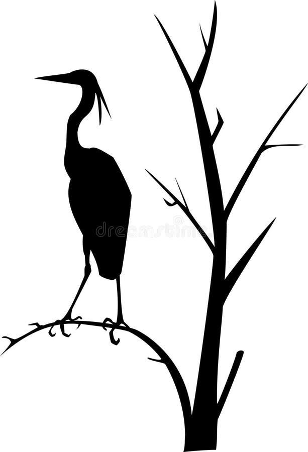苍鹭例证向量 向量例证