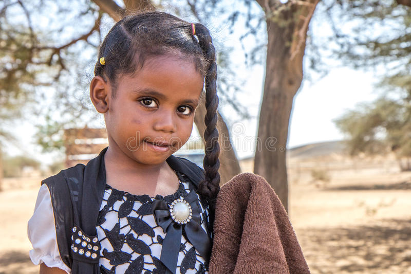 年轻苏丹人女孩 库存图片