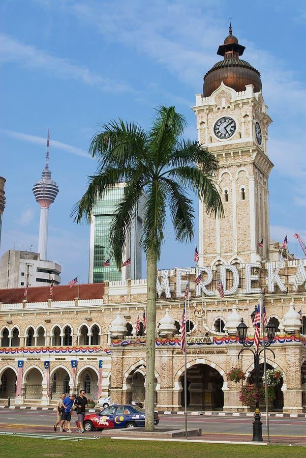 苏丹在独立正方形的阿卜杜勒萨玛德大厦在吉隆坡,马来西亚 库存照片