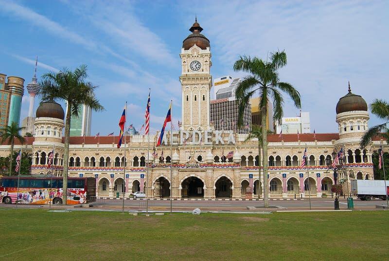 苏丹在独立正方形的阿卜杜勒萨玛德大厦在吉隆坡,马来西亚 免版税图库摄影