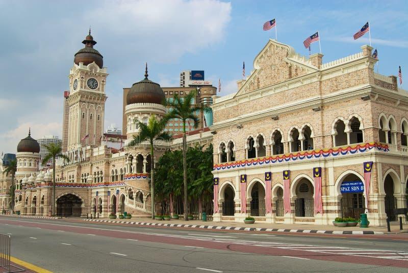 苏丹在独立正方形的阿卜杜勒萨玛德大厦在吉隆坡,马来西亚 免版税库存图片