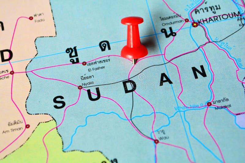 苏丹地图 图库摄影