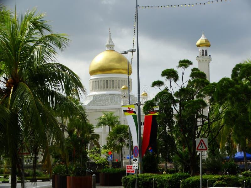 苏丹奥马尔阿里Saifudding清真寺,斯里巴加湾市,文莱 免版税库存图片
