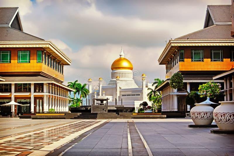 苏丹奥马尔阿里Saifudding清真寺,斯里巴加湾市,文莱, 免版税库存照片