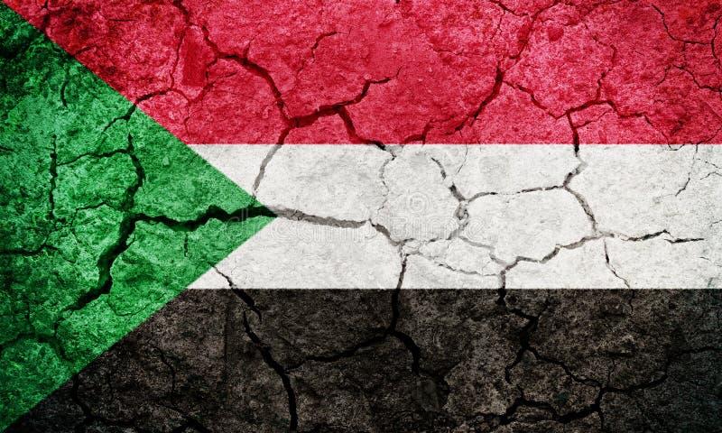 苏丹旗子 免版税库存照片