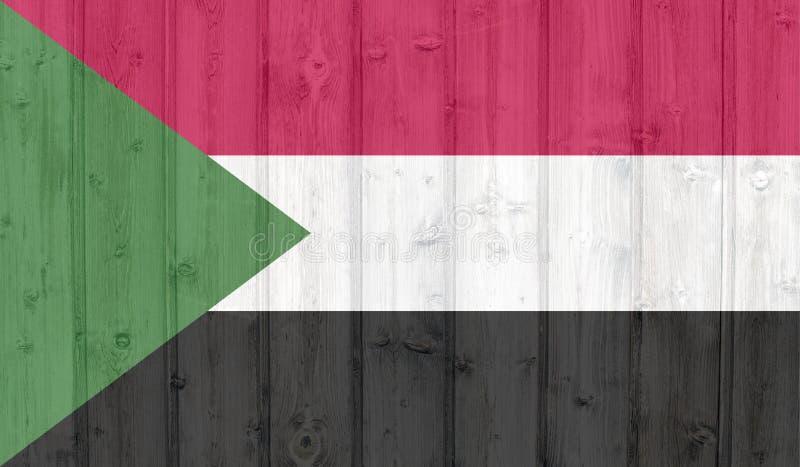 苏丹旗子 库存例证