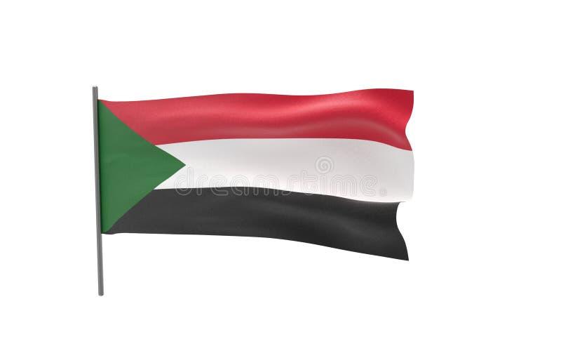 苏丹的旗子 库存例证