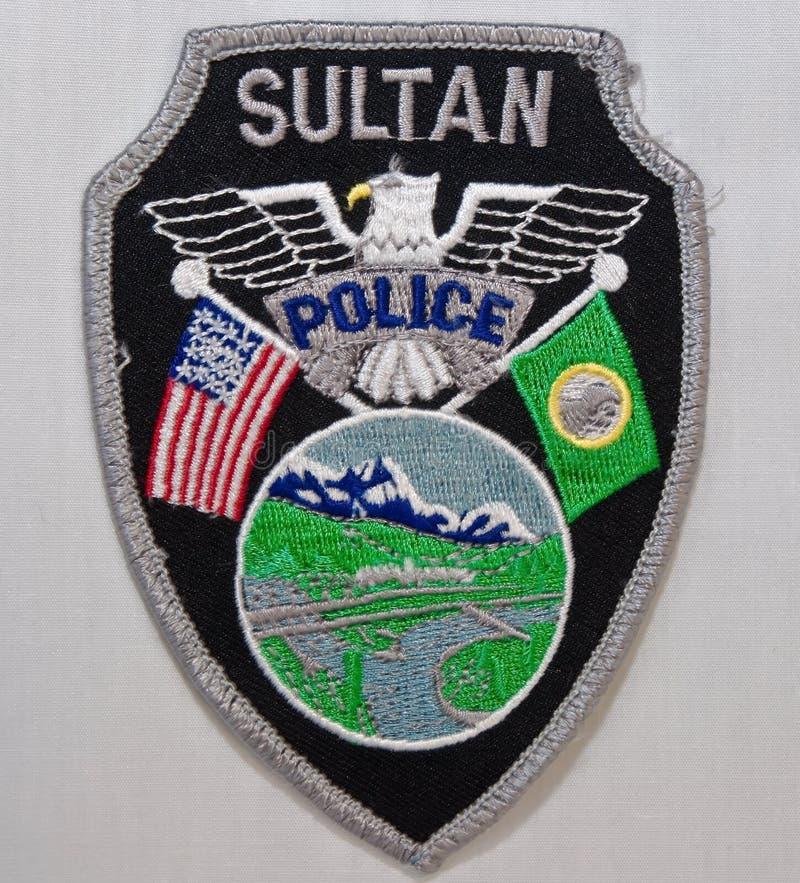 苏丹警察局的肩章在华盛顿 图库摄影
