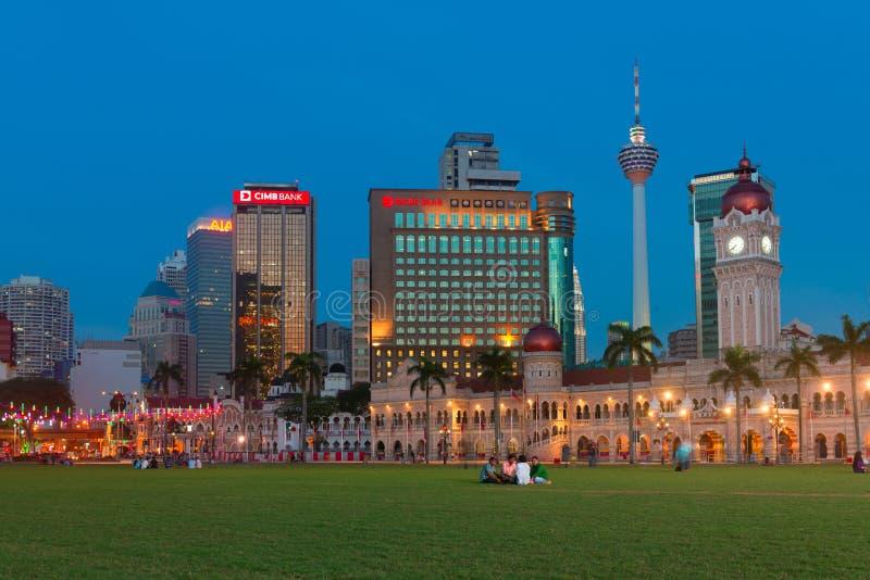 苏丹阿卜杜勒萨玛德大厦在吉隆坡,马来西亚 库存照片