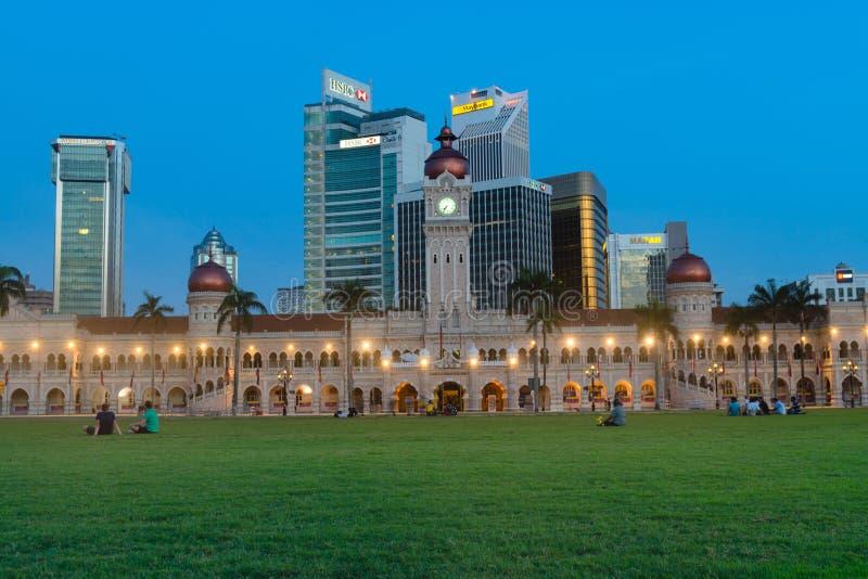 苏丹阿卜杜勒萨玛德大厦在吉隆坡,马来西亚 库存图片
