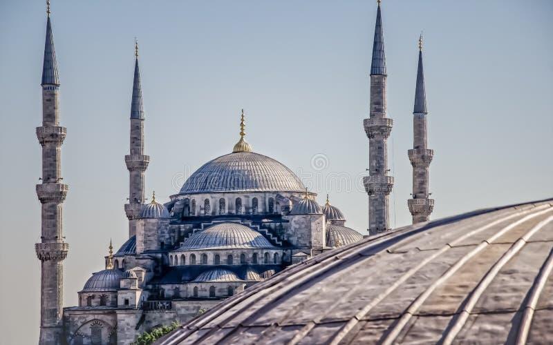 苏丹阿哈迈德清真寺蓝色清真寺在伊斯坦布尔 免版税图库摄影