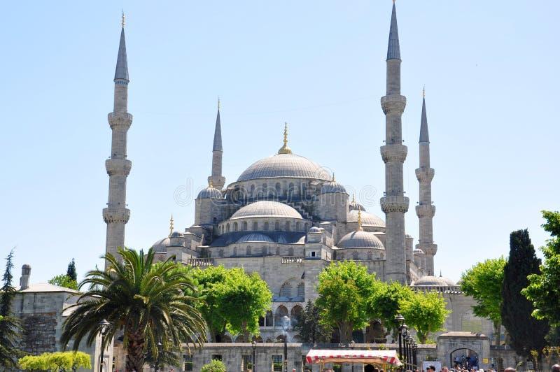 苏丹阿哈迈德清真寺蓝色清真寺,伊斯坦布尔 图库摄影
