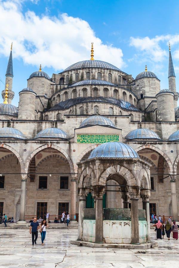 苏丹阿哈迈德清真寺,伊斯坦布尔,土耳其 库存照片