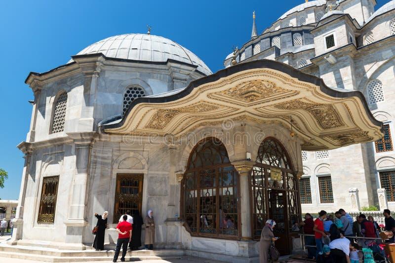 苏丹Mehmed坟茔征服者在伊斯坦布尔,土耳其 库存照片