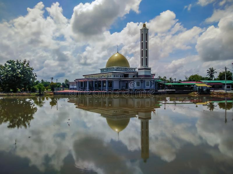 苏丹Sallehuddin清真寺, Paya Stesyen Pida 1, Kodiang,吉打, Malasia 免版税图库摄影