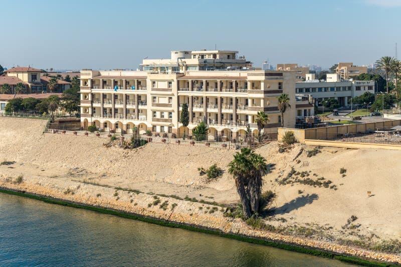 苏伊士运河当局医院在埃及 图库摄影