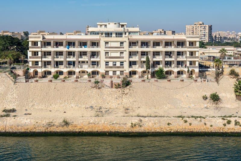 苏伊士运河当局医院在埃及 库存图片