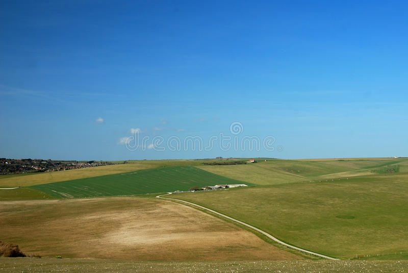 苏克塞斯/南部英国乡下横向 图库摄影