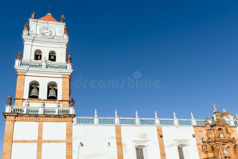 苏克雷,玻利维亚大教堂  库存照片