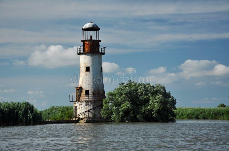 苏利纳,多瑙河老,被放弃的灯塔三角洲 图库摄影