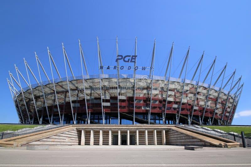 苏帕查拉赛体育场在华沙 库存照片