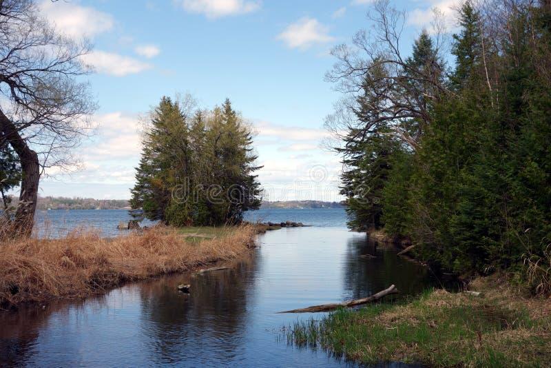 苏必利尔湖在春天 库存照片