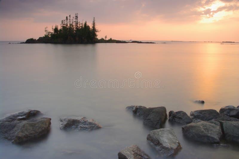 苏必利尔湖畔 免版税库存照片
