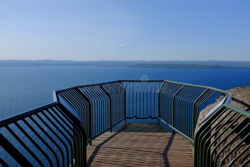 苏必利尔湖监视 库存照片