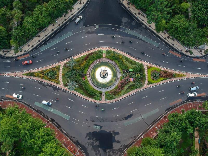 苏拉巴亚锋利的竹纪念碑 免版税库存图片