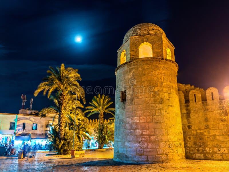 苏斯清真大寺在晚上 突尼斯 库存照片