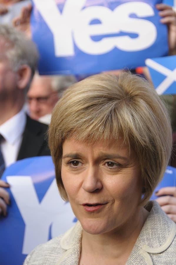 2014苏格兰人公民投票竞选 库存图片