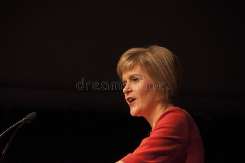 苏格兰人第一位大臣Nicola鲟鱼 免版税库存图片