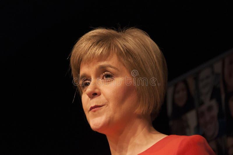 苏格兰人第一位大臣Nicola鲟鱼 图库摄影