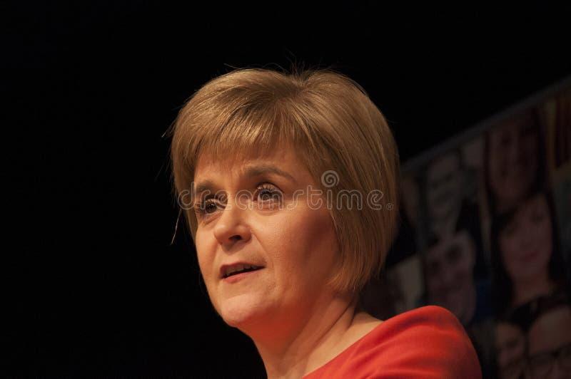 苏格兰人第一位大臣Nicola鲟鱼 免版税库存照片
