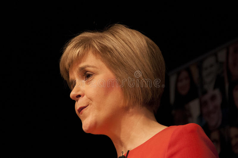 苏格兰人第一位大臣Nicola鲟鱼 库存照片