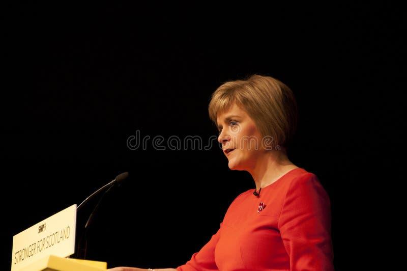 苏格兰人第一位大臣Nicola鲟鱼 库存图片