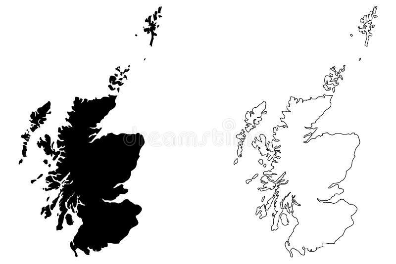 苏格兰地图传染媒介 皇族释放例证