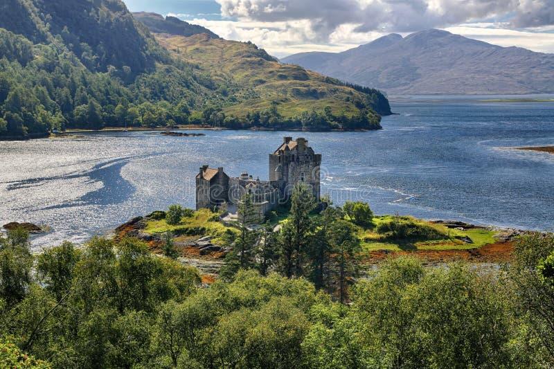 苏格兰多南城堡中世纪堡垒 库存照片