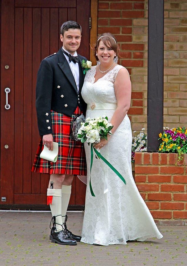 苏格兰婚礼 免版税库存图片
