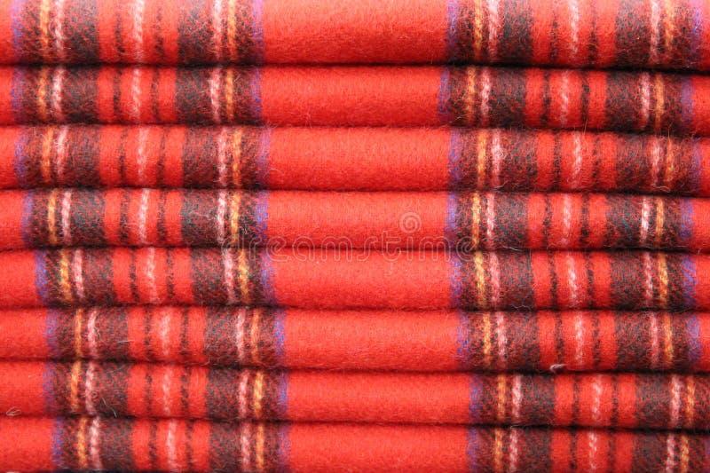 苏格兰格子呢围巾 免版税库存照片