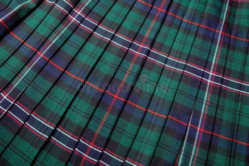 苏格兰格子呢 免版税库存照片