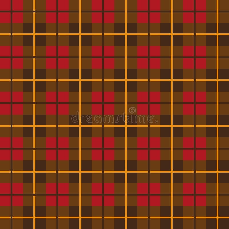 苏格兰格子花呢披肩样式无缝的传染媒介 库存例证