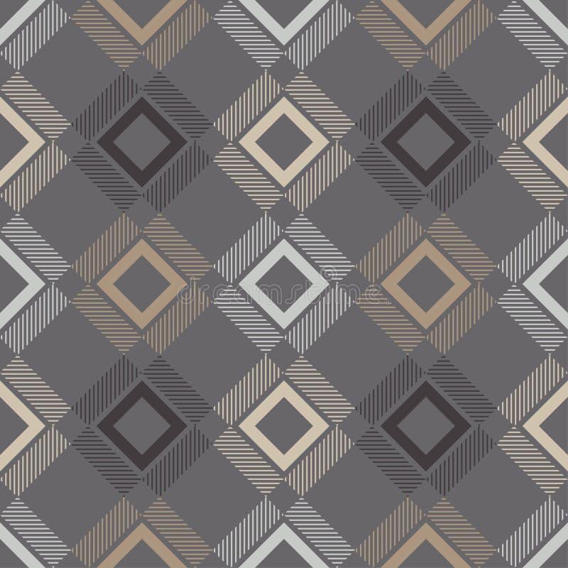 苏格兰格子花呢披肩,格子呢无缝的样式 英国织品 也corel凹道例证向量 库存例证