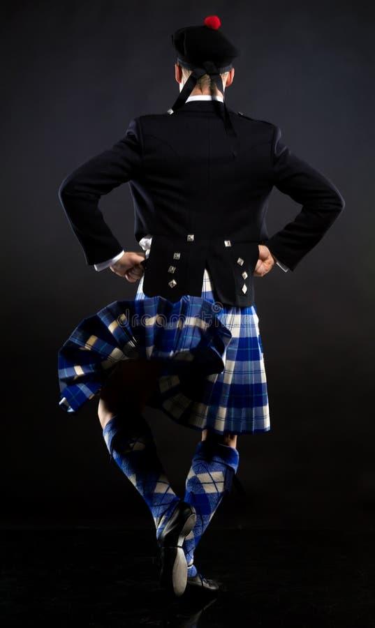 苏格兰男用短裙人年轻人 库存图片