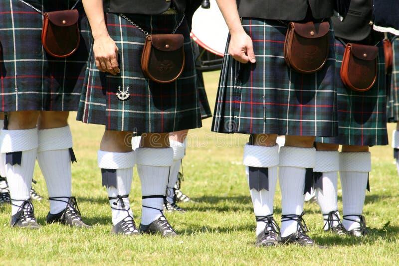 苏格兰男用短裙 免版税库存照片