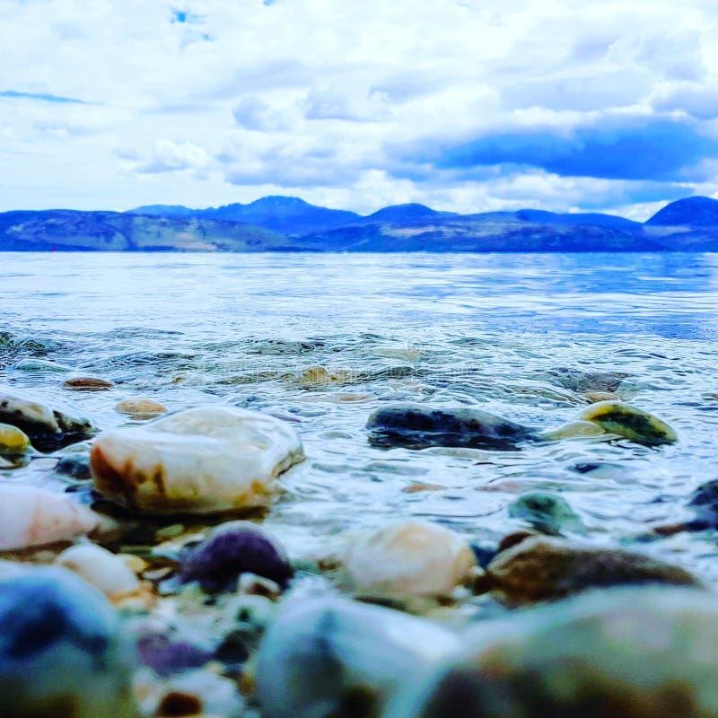 苏格兰的岸 免版税库存照片